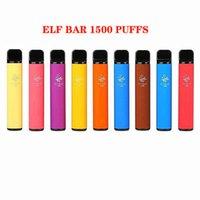 ELF BAR Disposable E Cigarette Device 1500 Puff 850mAh Batteries 4.8ml Prefilled Cartridge Vape Pen Kit VS Bang XXL Air King Plus Mskking High Pro Monster Choices