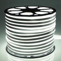 Fanlive 50m / lot 25 * 15mm 12W 2835 SMD 12V LED NEON Light LED Striscia Bianco nastro RGB DC12V / 220V / 230V Arredamento per feste impermeabile