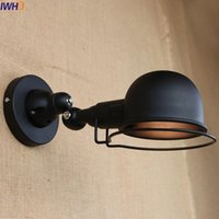 IWHD Rust Iron Vintage Wall Light LED Wandlampen Dinning Roo...