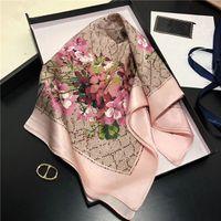 3 цвета классический шарф печатный алфавит шарфы роскошные шелковые твил квадратные шарфы для дам 53 * 53см