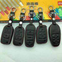 Крышка ключа автомобиля для VW Touareg 2011 2014 2016 2017 автомобиль Ключ ключевой случай Натуральный кожаный держатель для Volkswagen Key 2012 2013 клавиши G2