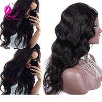 Perulu Vücut Dalga U Bölüm İnsan Saç Peruk Orta Sol Sağ U Bölüm Bakire Saç Peruk Siyah Kadınlar Için Doğal Renk 12-26 inç