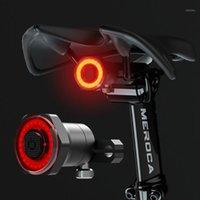 أضواء الدراجة LISM الذكية دراجة الذيل الخلفية الخلفية تبديل السيارات وقف الفرامل IPX6 للماء USB تهمة ركوب الدراجات الضوء الخلفي LED أضواء 1