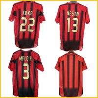 2004 2005 Retro Soccer Jersey 04 05 Home Red Black Black Milano Classic Vintage Camicia da calcio NESTA AC INZAGHI SHEVCHENKO Pirlo Kaka Maldini