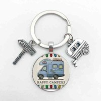 Keychain Nice Camper Wagon i Love Campsite Trailer Road Vacation Travel Poison