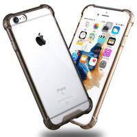 Caso de armadura híbrida à prova de choque transparente caso de almofada de ar claro para iphone 6 6s 7 8 mais x xs xr xs max samsung s8 s10 huawei p30
