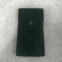 Green Watch Pocket Pocket Pocket Smooth Flannel Sacchetto maschio e femmina orologio da polso custodia protettiva orologi tasche regalo sacchetto di stoccaggio verde