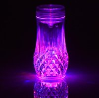Acrylic Bottle Hookah Shisha Bong Smoking Water Pipe Set With Led Light Bowl Arab Stem cup 5 colors diamond Oil Rigs Tool Accessories