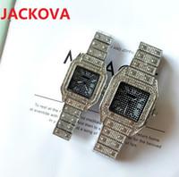 Famous classic designer Full Stainless Steel Wristwatch Luxury Fashion Crystal Diamonds Ring Men Watches Women Square dial Ladies quartz watch wholesale