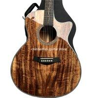 41 인치 K24CE 솔리드 코아 탑 자연 광택 어쿠스틱 일렉트릭 기타 그로우 튜너, 중국 어상 픽업, 단일 장면