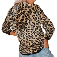 Women's Hoodies & Sweatshirts Women Casual Sweatshirts, Long Sleeve Front Pocket Drawstring Plaid Leopard Camouflage Fashion Autumn Winter H