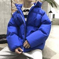 Привашнечный мужской зимние теплые парки корейский человек сгущает повседневные куртки пальто напечатанные мужчины негабаритная пиджака