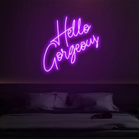 """Other Event & Party Supplies """"Hello Gorgeous"""" Neon Sign Custom Light Led Pink Home Room Wall Decoration Ins Shop Decor"""