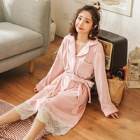 Women's Sleepwear Nightgown Sexy Winter Simple Lace Princess Dress Comfortable Long-sleeve Home Service Solid Color Warm Pijamas Fashion Nig