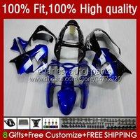 Corpo Para KAWASAKI ZX900CC estoque azul ZX900 ZX9 R ZX9R 00 01 02 03 56HC.12 ZX 9R 9 R 900 900cc ZX9R 2000 2001 2002 2003 kit completa carenagens