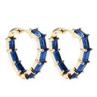Stud Color Earrings Two Colors Love Heart Hoop For Women Gift