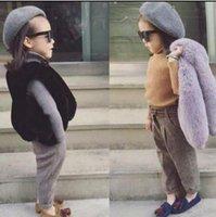 صدرية طفل سترة الفتيات فروي طفل فتاة سترة معاطف الصلبة الرضع فتاة أكمام أبلى الشتاء ملابس الطفل المضادة للفراء سترة WMQ596