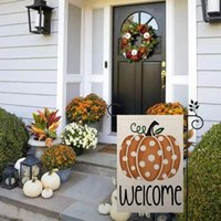 Decorative Objects & Figurines Welcome Fall Halloween Garden Flag Vertical Double Sided Pumpkin Gnomes Farmhouse Autumn Burlap Yard Outdoor