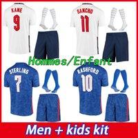2021 2022 축구 유니폼 케인 스털링 라쉬 포드 산초 헨더슨 Barkley Maguire 21 22 National Football Shirts 남성 + 키즈 키트 세트 유니폼