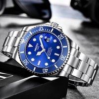 Designer de luxe Marque Montres Nibosi Top Mode Diver Hommes Évolués Date Horloge Sport ES Mens Quartz Poignet Relogio Masculino