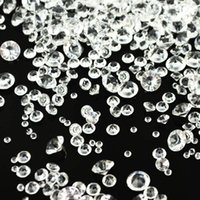 Party Decoration 4000Pcs/Pack Confetti Wedding Decor Acrylic Crystals Supplies Celebration 2.5-7.5mm Tiny Diamond Table Scatter