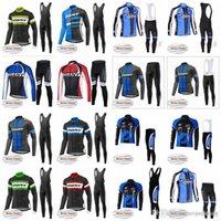 Equipo gigante ciclismo de invierno vellón térmico jersey (babero) Pantalones conjuntos de ropa de ciclismo para hombres MANERA MANTENIMIENTO EN INVIERNO D1705