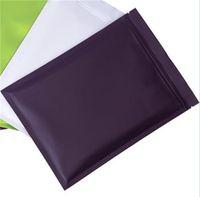 100 pezzi opaco nero richiudibile mylar con cerniera serratura alimentare immagazzinamento sacchetti di imballaggio in alluminio foil serratura imballaggio sacchetti odore borse a prova di odore 102 s2