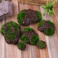 Tuin Decoraties 6 stks Kunstmatige Planten Fake Rock Foam Sawdust Moss Stone Woondecoratie Chip Micro Landscap Gras Pet Toy Greenery