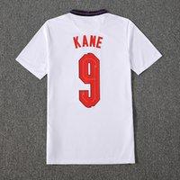 # 9 Kane # 7 Grealish Soccer Jerseys Home White 2021 # 11 Rashford Nation Team Away Blue Men Soccer Shirt 2021/2022 # 10 Sterling # 17 Sancho Boy Football Uniform Kit Kits