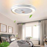 Ventilatore a soffitto a LED con luci 50 cm Intelligent Bedroom Home Decorative Ventilator Lampada APP Smart APP Telecomando Indoor Lighting Apparecchio Luminia Lampadario