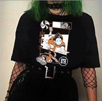 Erkek T-Shirt Hinata Yaz Günü Haikyuu Baskı T-Shirt Yuvarlak Boyun ve Wo Kısa Kollu