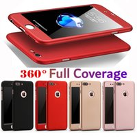 360 Degree Full Body Coverage Protection Cases With Tempered Glass Hard PC For iPhone 12 11 Pro XR XS Max X 8 Samsung S20 FE S21 Ultra A12 A32 A52 A72 A51 A71 A11 A21 A21S