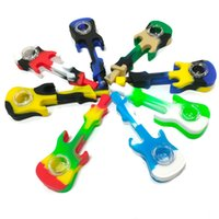 Silicone Smoking Pipes Oil Dab Rigs Multi Colors Water Hookah Bong With Dabber Tool Vs Twisty Glass Pipe Blunt