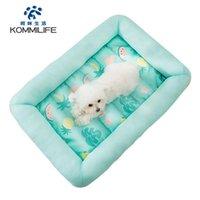 Canels canais kommilife impermeável cama pequena cama verão refrigerar gato esteira respirável sofá macio para cães gatos lavável cachorrinho almofada