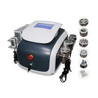 6 en 1 lipolaser multifonction minceur machine 650nm lipo laser 40k cavitation ultrasonique RF carrosserie de vide radiofaculation minceur