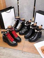 Yüksek Kaliteli Bayan Ayakkabı Bahar Ve Sonbahar Yeni Deri Orta Topuk Yuvarlak Dantel Up Elmas Bayan Çizmeler Tek Boot Kalın Topuk Bayan Moda