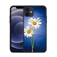 Custodie per cellulari da donna antiurto per iPhone 12 11 Pro Max XR XS 8 7 Plus Ultra Clear floral Beautiful flower flower flower cover cover