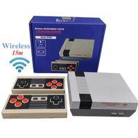 620 في 1 جديد 8 بت 2.4 جرام لاسلكية فيديو لعبة وحدة يمكن تخزين 620 ألعاب الرجعية التلفزيون وحدة التحكم مربع av إخراج المزدوج لاعب تحكم