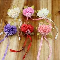 Flores artificiales Decoraciones de la boda Flor de la mano de la mano de la mano de la mano de la mano de la mano de la muñeca de la muñeca de la muñeca de la espuma de rosa simulación FakeFlowers WLL672