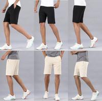 lulu men pant short pants gym quick dry loose drawstring elastic waist knee length beach designer lu sweatpants fintness trouser mens shorts 58pm#
