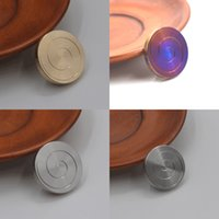 Dropshipping Kinetic Desk Toys Metal Spinning Top Desktop Transfer Coin Gyro For Children Adult Ant-stress Stress Relief Toy