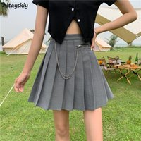 Skirts Women Chains Simple Summer Casual Large Size Korean Style Students Solid Trendy All-match Empire Streetwear Basic Friends