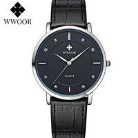 Armbanduhren 2021 WWOOR Herrenuhren Top Lederband Quarzuhr minimalistische Sport Wasserdichte Handgelenk für Reloj Hombre