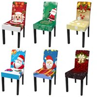 Chair Covers Christmas Dining Chairs Spandex Elastic Cover For Living Room Kitchen Office Party Decor