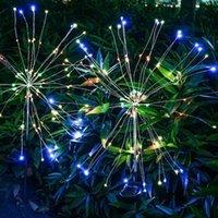 Christmas Decorations 90 120 150LED Solar Light Outdoor Grass Globe Dandelion Waterproof Flash String Lights Lawn Firework Lamp Garden Decor