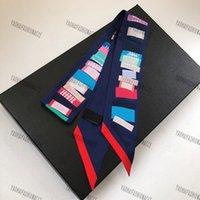 럭셔리 디자이너 디자인 여성용 스카프 패션 편지 스카프 가방 스카프 고품질 실크 직물 5 * 120cm