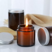 DIY container homemade scented Tan jar minority candle cup glass perfume bottle978P