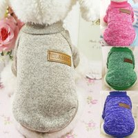 Classic Dog warm Clothes Puppy Pet Cat Clothes Sweater Jacket Coat Winter Fashion Soft For Small Dogs
