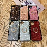 Fashion Square Bling Gradient Glitter Phone Cases for MOTO G Stylus GPLAY GPower LG Stylo 7 6 5 4 K51 K61 Ring holder Designer Women Defender Cover Case