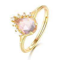 Gioielli in pietre preziose naturali di Rose Qaurtz S925 anello in argento anelli anelli anelli anelli anelli per ladies GFIT